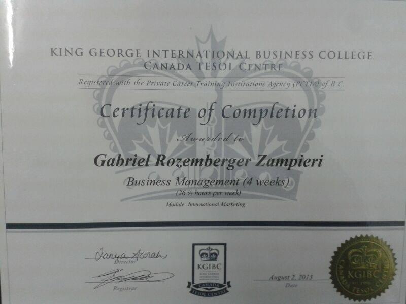 Certificado do Gabriel