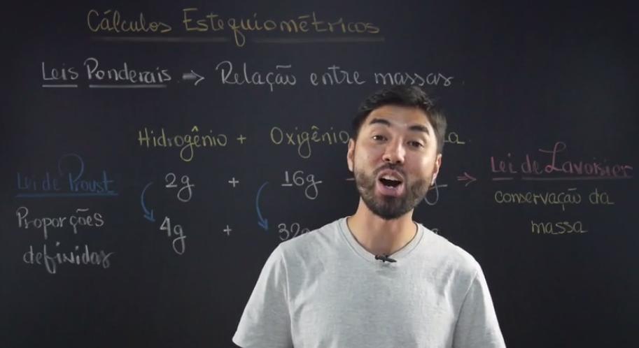 Prof Igor revisa cálculos estequiometricos
