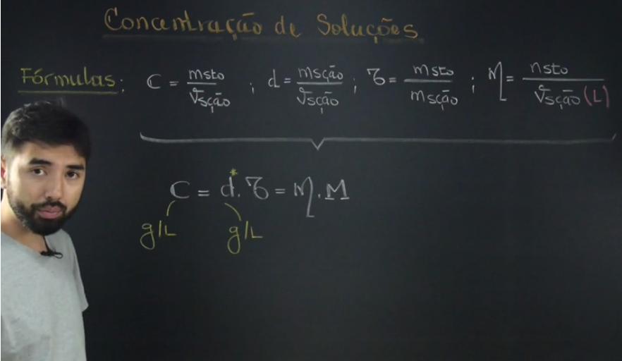 concentração de soluções formula