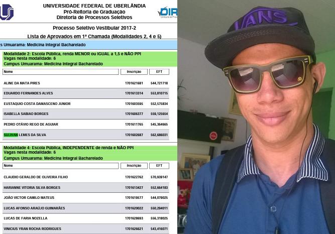 Estudante é aprovado em Medicina na Federal de Uberlândia