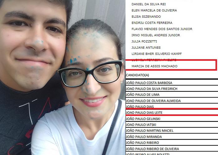 Casal aprovado na Universidade Federal do Paraná