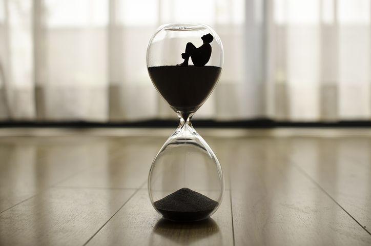 Espera, ampulheta, tempo
