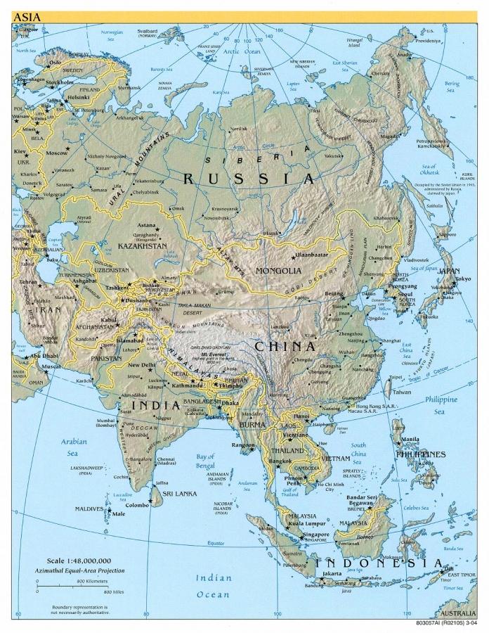 asia mapa mundi