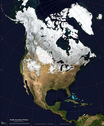 américa do norte mapa mundi