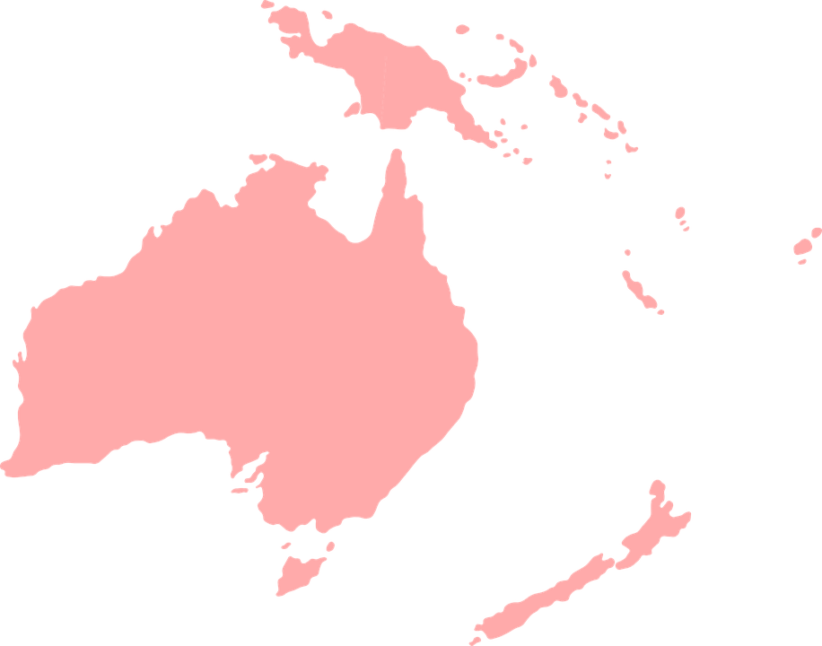 oceania mapa mundi