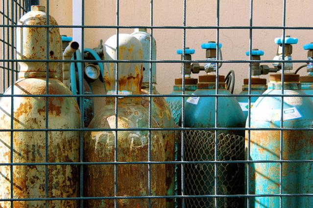 cilindros de oxigênio oxigênio